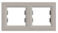 Рамка двухпостовая горизонтальная Бронза Schneider Asfora plus (EPH5800269), фото 1