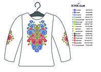 Заготовка для вышивки бисером Женской рубашки СЖ 26