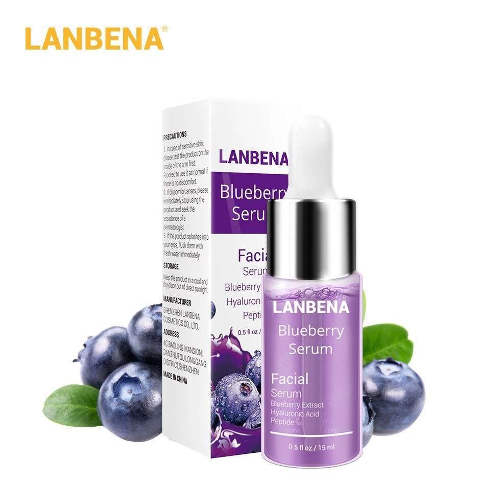 Концентрированная сыворотка LANBENA Blueberry  с гиалуроновой кислотой + пептиды + экстракт черники 15 ml