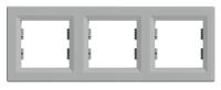 Рамка трехпостовая Алюминий Schneider Asfora plus (EPH5800361), фото 1