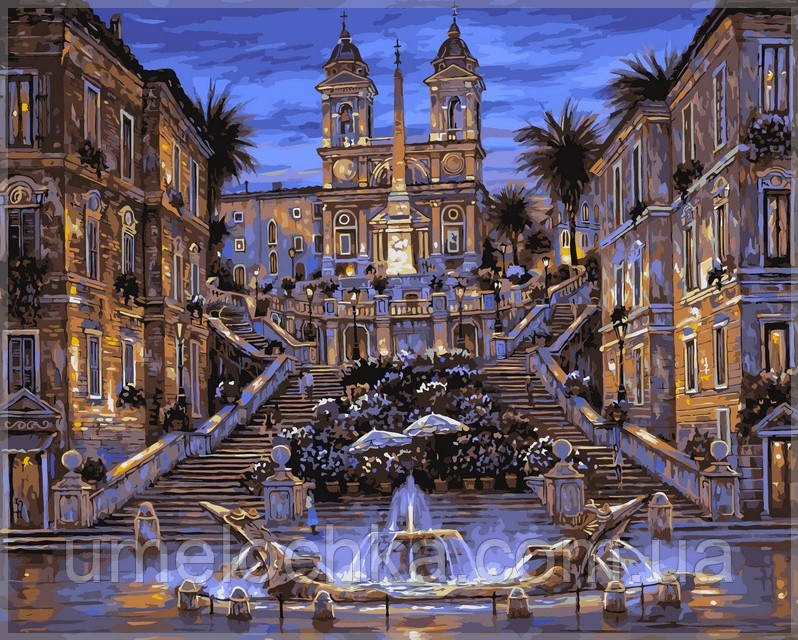 Раскраска по цифрам Babylon Испанская лестница в Риме