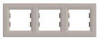 Рамка трехпостовая Бронза Schneider Asfora plus (EPH5800369), фото 1