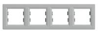 Рамка четырехпостовая Алюминий Schneider Asfora plus (EPH5800461), фото 1