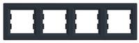 Рамка четырехпостовая Антрацит Schneider Asfora plus (EPH5800471), фото 1