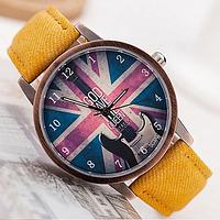 "Часы наручные с британским флагом ""God save the QUEEN"" - Боже храни королеву!"