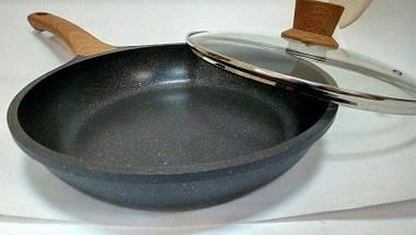Сковорода з кришкою гранітне покриття Vissner VS 7700 3 розміру, фото 2