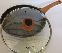 Сковорода з кришкою гранітне покриття Vissner VS 7700 3 розміру, фото 3