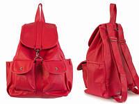 Красный рюкзак для девушки