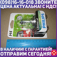 ⭐⭐⭐⭐⭐ Лампа накаливания H4 12V 60/55W P43t-38 LongerLife Ecovision 1шт blister (пр-во Philips) 12342LLECOB1