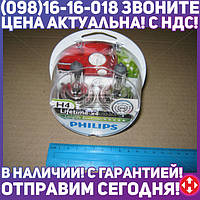 ⭐⭐⭐⭐⭐ Лампа накаливания H4 12V 60/55W P43t-38 LongerLife Ecovision 2 штуки (пр-во Philips) 12342LLECOS2