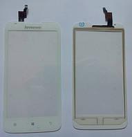 Сенсорний екран для смартфону Lenovo A680, тачскрін білий