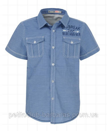 Детская рубашка для мальчика с коротким рукавом р. 116см, 128см(Glo-Story, Венгрия)