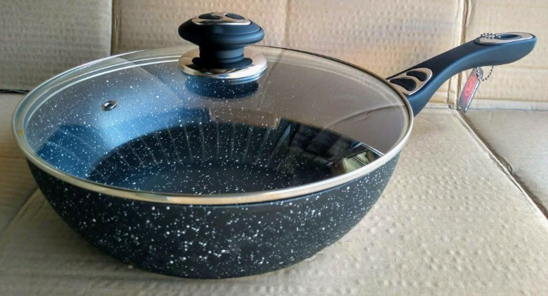 Сковорода с крышкой Vissner VS 7581-28 вок сковорода ВОК мраморная большая