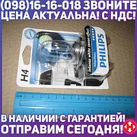 ⭐⭐⭐⭐⭐ Лампа накаливания H4 WhiteVision 12V, 60/55W, P43t-38, (+60) (4300K) 1шт. blister (производство  Philips)  12342WHVB1