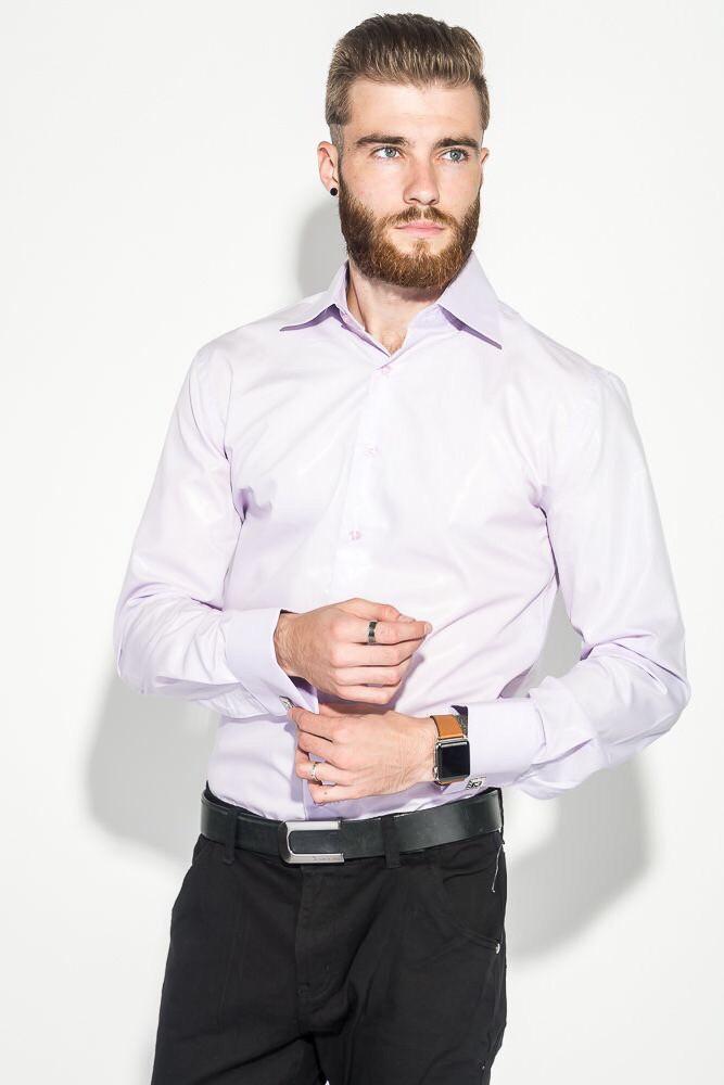 Чоловіча сорочка з довгим рукавом NINO PACO ніжно-сливова