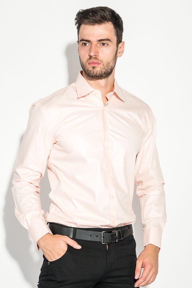 Чоловіча сорочка з довгим рукавом NINO PACO красиво рожева