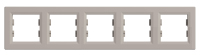 Рамка пятипостовая горизонтальная Бронза Schneider Asfora plus (EPH5800569), фото 1