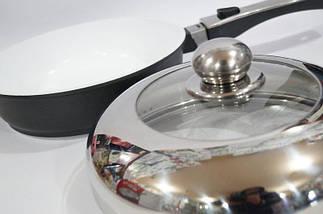 Сковорода антипригарная Swiss Zurich 24cм SZ-155-28 с керамическим покрытием 28 см , фото 2