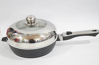 Сковорода антипригарная Swiss Zurich 24cм SZ-155-28 с керамическим покрытием 28 см , фото 3