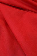 Льняная сорочечная ткань красного цвета, фото 1