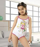 Комплект белья для девочки (майка, трусы) с принтом Девочка