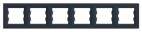 Рамка шестипостовая горизонтальная Антрацит Schneider Asfora plus (EPH5800671), фото 1