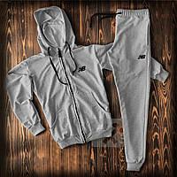 Спортивный костюм New Balance серого цвета (люкс копия)