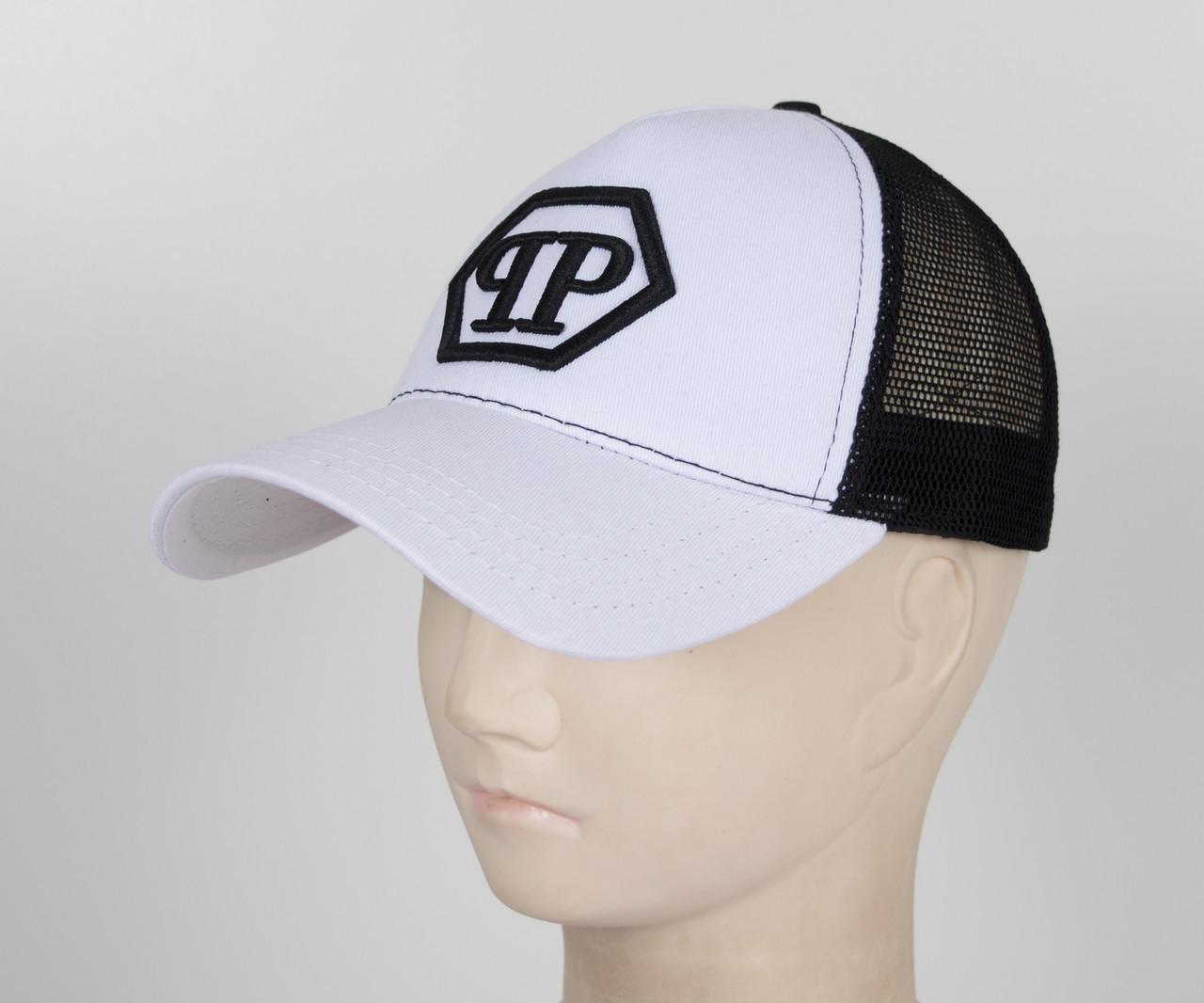 Бейсболка вышивка сетка PP1901 белый