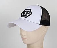 Бейсболка вышивка сетка PP1901 белый, фото 1