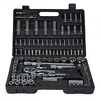 Набор ручного инструмента для авто, для дома и гаража в кейсе на 1/2 и 1/4 108 ед Miol E-58-108