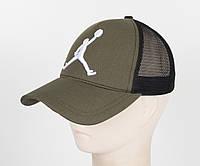 Бейсболка вышивка сетка J1901 Хаки, фото 1