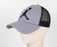 Бейсболка вышивка сетка J1901 Серый, фото 1