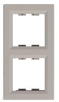 Рамка двухпостовая вертикальная Бронза Schneider Asfora plus (EPH5810269), фото 1