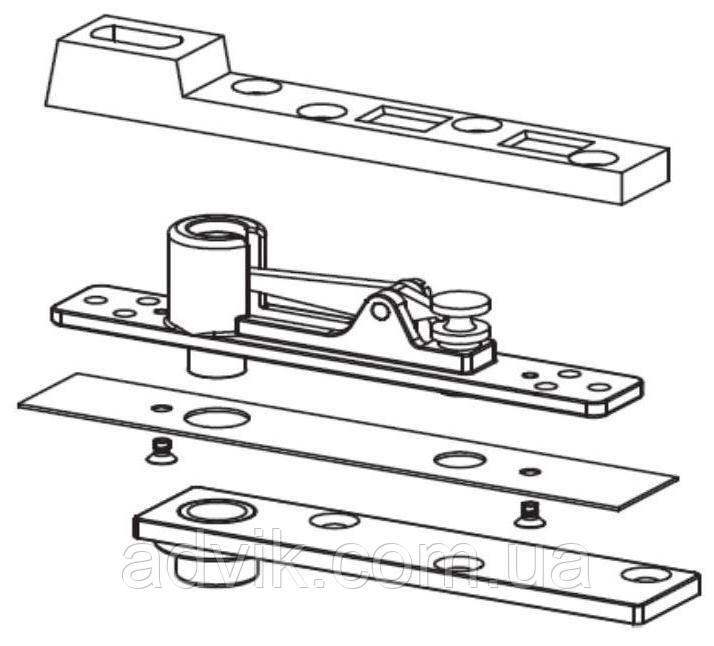 Комплект петель G-U (Артикул: K-17477-00-0-8) для маятниковых дверей