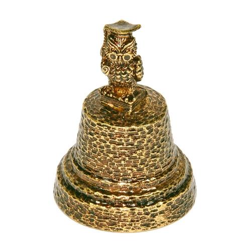 Колокольчик бронзовый сувенирный Сова