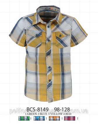 Летняя рубашка для мальчика в клетку (Glo-Story, Венгрия)