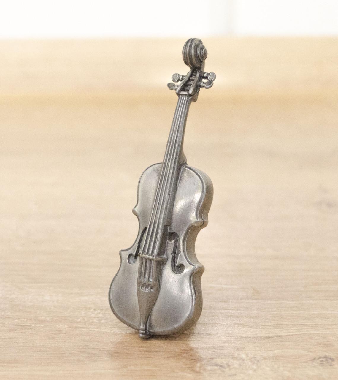 Оловянная миниатюра, виолончель, олово, Германия