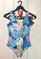 Модный купальник боди с листьями, женский слитный купальник