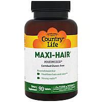 Вітаміни і мінерали для волосся, шкіри та нігтів Country Life Maxi-Hair 90 tabs