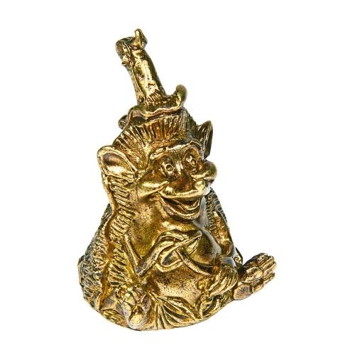 Колокольчик бронзовый Ёж с грибом