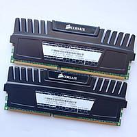 Комплект оперативной памяти Corsair DDR3 8Gb KIT of 2 1600MHz PC3 12800U CL8 (CMZ8GX3M2A1600C8) Б/У, фото 1