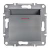 Выключатель карточный механический самозажимные контакты Сталь Schneider Asfora plus (EPH6200162)
