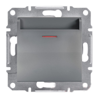 Выключатель карточный механический самозажимные контакты Сталь Schneider Asfora plus (EPH6200162), фото 1