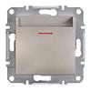 Выключатель карточный механический самозажимные контакты Бронза Schneider Asfora plus (EPH6200169)