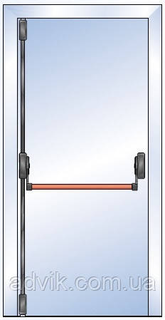Ручка Антипаника G-U для 1-створчатой двери с вертикальным 2-точечным запиранием