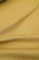 Льняная сорочечная ткань горчичного цвета, фото 1