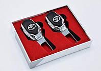 Заглушка  в ремни безопасности с ЛОГОТИПОМ вашего авто Модель Premium 4S-3 комплект 2шт.