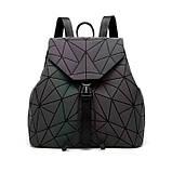 Модний рюкзак жіночий міський. Яскравий рюкзак хамелеон Bao Bao Issey Miyake. Рюкзак для дівчинки, фото 2