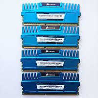 Комплект оперативной памяти Corsair DDR3 16Gb KIT of 4 1600MHz PC3 12800U CL9 (CMZ16GX3M4A1600C9B) Б/У, фото 1