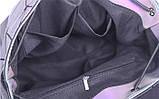 Модний рюкзак жіночий міський. Яскравий рюкзак хамелеон Bao Bao Issey Miyake. Рюкзак для дівчинки, фото 7